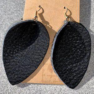 3 for $20 - black leather earrings